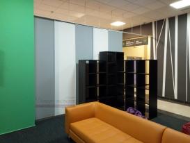 Вид на панели изнутри холла правая часть зоны презентаций.
