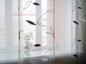 Фото-37. Японские шторы в домашний кабинет - фрагмент.