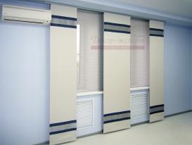 Фото-59. Японские шторы в офисе.