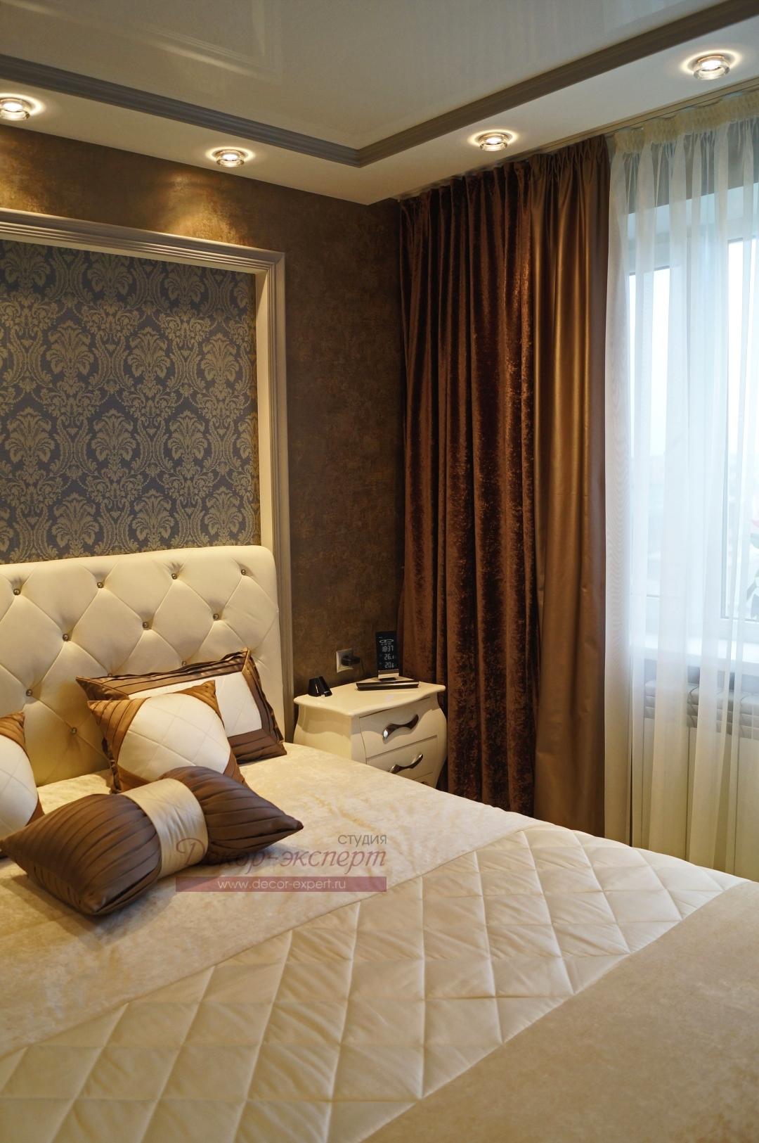 Фото-92. Текстильный декор для спальни в Сызрани.