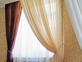 Фото-93.  Фрагмент штор и балдахина для спальни.