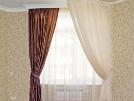 Фото-95.  Фрагмент штор и балдахина для спальни.