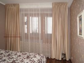 Общий вид на шторы для спальни в квартире в Тольятти.