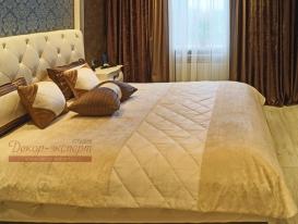 Фото-90. Покрывало и декоративные подушки для спальни в Сызрани.