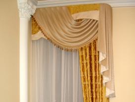 Фото-1. Классические шторы в спальню. Тольятти.
