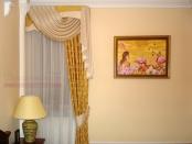 Фото-2. Штора с ламбрекеном для углового окна в спальни.