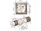Эскиз-3. Декоративные валик и подушка. Проект.