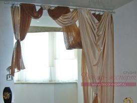 Фото-9. Современные шторы в спальню.