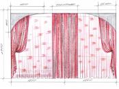 Эскиз-7. Проект штор в спальню.