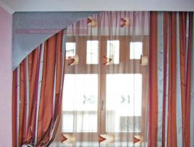Фото-26.Оригинальные шторы в спальню.