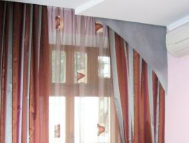 Фото-27. Оригинальные шторы в спальню.
