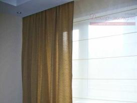 Фото-32. Фрагмент римской шторы в спальне.