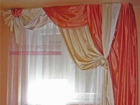 Фото-35. Шторы в современном стиле для спальни в готовом виде.