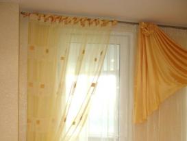 Фото-8. Фрагмент штор на петлях.