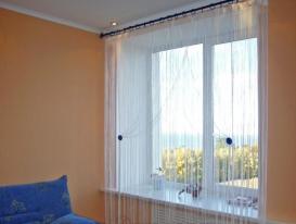 Фото-16. Кисея на окне в гостиной комнате. Волжский Утес.