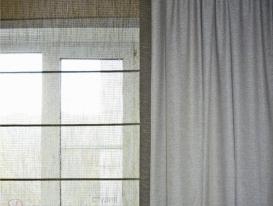 Фото-35. Фрагмент римской шторы и портьеры.