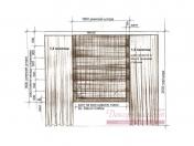 Эскиз-3. Проект римских штор для гостиной в Тольятти.