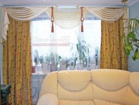 Фото-37. Классические шторы для гостиной в Тольятти.