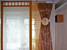 Фото-40. Фрагмент штор длягостиной в современном стиле.