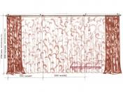 Эскиз-6. Проект современных штор для гостиной.
