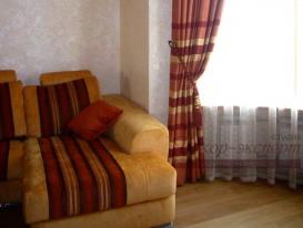 Фото-53. Фрагмент штор для зала в русском стиле.