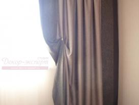 Фото-59. Фрагмент штор для гостиной.