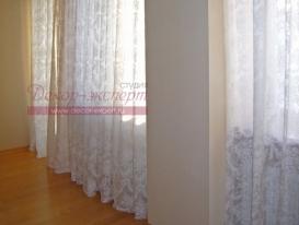 Фото-61. Лёгкие шторы для гостиной.