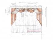 Эскиз-10. Проект классических штор для гостиной.