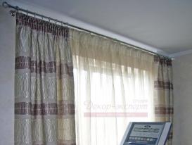 Фото-71. Фрагмент штор в гостиной комнате.