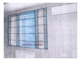 Эскиз-19. Проект римских штор в комнату мальчика.