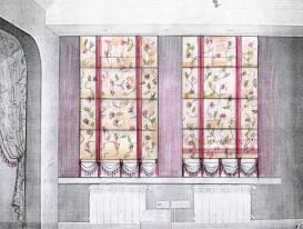 Эскиз-20. Проект римских штор в детскую комнату девочки.