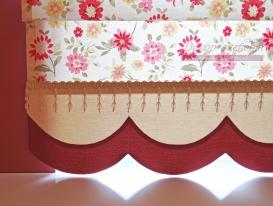 Фото-68. Фигурный кант на римской шторе.