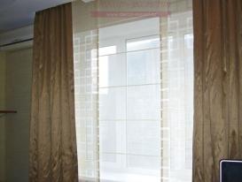 Фото-48. Японские шторы с прямыми портьерами.