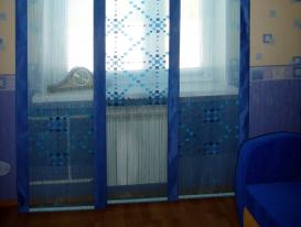Фото-6. Синие японские шторы для детской комнаты для мальчика