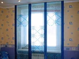 Фото-4. Японские шторы в комнату мальчика.