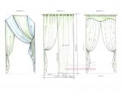 Эскиз-5. Варианты декора арочного окна, предложенные заказчику.