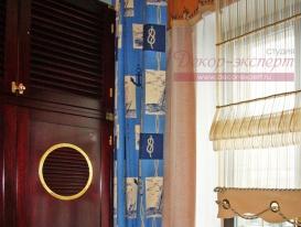 Фото-10. Фрагмент с приподнятой римской шторой.