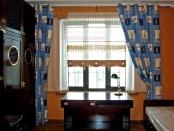 Фото-13. Шторы в морском стиле в детскую. Комбинация портьер и римской шторы.
