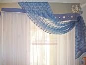 Фото-9. Фрагмент шторы в морском стиле с гладким ламбрекеном для детской.