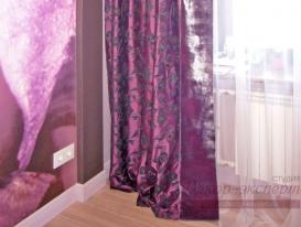 Фото-30. Подбор портьерной ткани штор к обоям для стен.