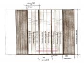 Эскиз-14. Японские шторы в комнату мальчика подростка. Проект.