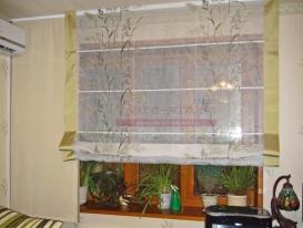 Фото-46. Римская штора с кантом в приподнятом состоянии.