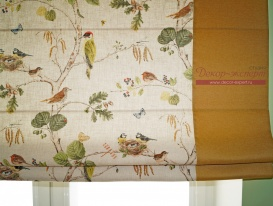Римская штора с кантами фрагмент.