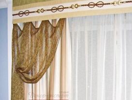Фото-57. Стилизация в морском стиле из сетки на портьере.