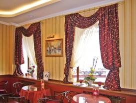 Фото-16. Шторы для кафе-кондитерской в Тольятти.