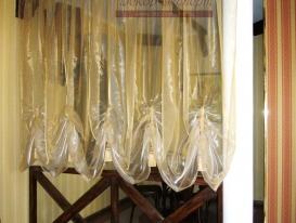 Фото-7. Зонирование пространства шторой в пиццерии. Комсомольский район в Тольятти.