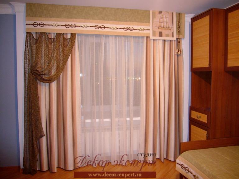 Шторы в детскую комнату для мальчика в Тольятти, шторы в морской теме