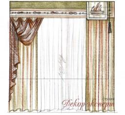 Шторы в детскую комнату для Мальчика, шторы в морской теме (проект), дизайн штор Светлана Никитина