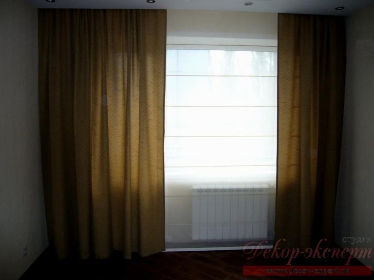 Дизайн штор для зала Светлана Никитина, студия Декор-эксперт в Тольятти, римские шторы, Самара, Сызрань