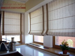 Римские шторы для кухни с электроприводом, в Тольятти, Самаре, Сызрани, электро-карнизы на радиоуправлении, дизайн штор Светлана Никитина
